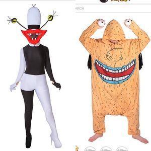 Oblina and Krumm couples Halloween costume
